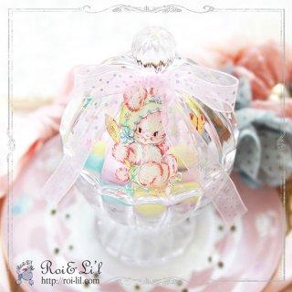 ガラス容器『キャンディーポット』【Roi&Li'l】ポーセリンアート