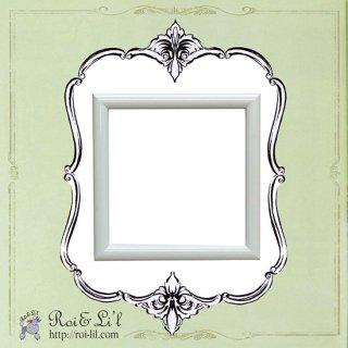 15cmタイル専用フレーム『シンプルホワイト』【Roi&Li'l】ポーセリンアート