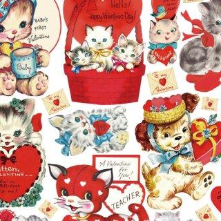 転写紙 『1950s Vintage Lovelyちゃん』 白磁 陶芸 焼成用 A4サイズ【Roi&Li'l】ポーセリンアート