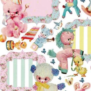 転写紙 『Vintage Doll フレームコレクション 』 白磁 陶芸 焼成用 A4サイズ【Roi&Li'l】ポーセリンアート