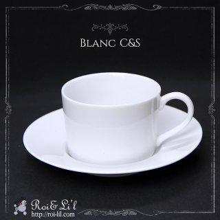 白磁『ブラン カップ&ソーサー』【Roi&Li'l】ポーセリンアート
