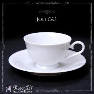 白磁『ジョリ カップ&ソーサー』【Roi&Li'l】ポーセリンアート