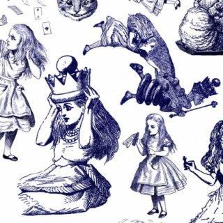 転写紙 『鏡の国のアリスVol.2』 白磁 陶芸 焼成用 A3サイズ【Roi&Li'l】ポーセリンアート