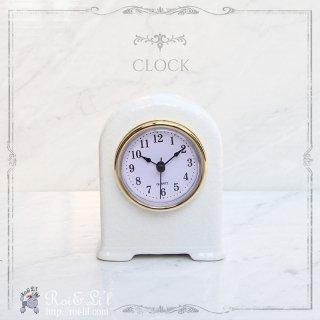 白磁『置き時計』 【Roi&Li'l】ポーセリンアート