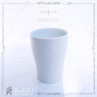 白磁 『フリーカップ』【Roi&Li'l】ポーセリンアート