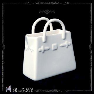 白磁 『ファッションバッグ』【Roi&Li'l】ポーセリンアート