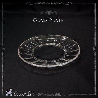 ガラス『グラスプレート』【Roi&Li'l】ポーセリンアート