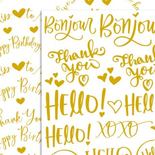 転写紙『Gold font A&B』 B5