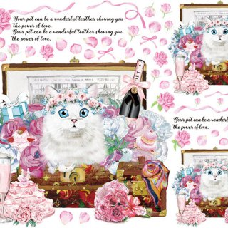 インテリアタイルアート転写紙『Fortune Cat.V』A4