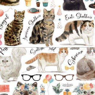 転写紙『CAT LOVER A&B』A4【チャリティ商品】