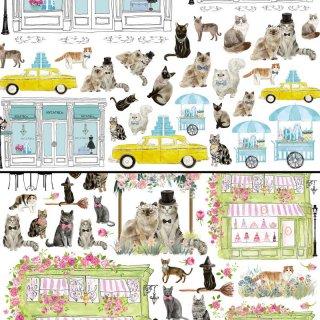 転写紙『Cat Street A&B』A4【チャリティ商品】