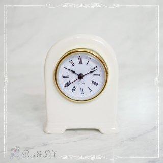 白磁『テーブル時計』 【Roi&Li'l】ポーセリンアート