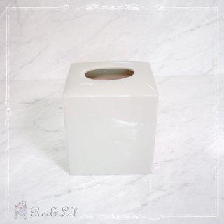 白磁『ティッシュボックス』【Roi&Li'l】ポーセリンアート