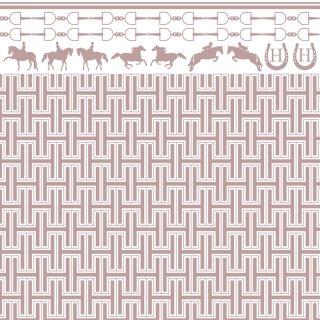 転写紙 『HORSE BIT Pinkbeige -ホースビット ピンクベージュ』 A3