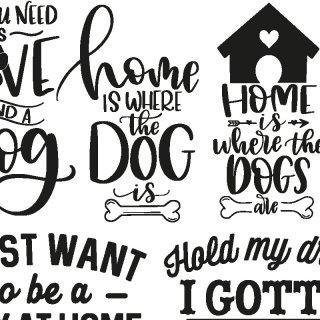 転写紙 『Dog&Cat Word-ドッグ&キャットワード』 A4