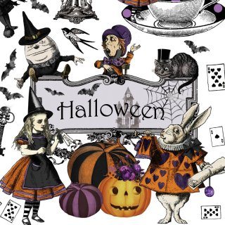 <img class='new_mark_img1' src='https://img.shop-pro.jp/img/new/icons13.gif' style='border:none;display:inline;margin:0px;padding:0px;width:auto;' />転写紙 『Halloween Wonderland-ハロウィン ワンダーランド』 A3