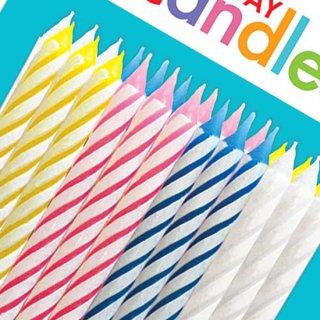 バースデーキャンドル キャンディ・ストライプ<br>【Candy Stripe】