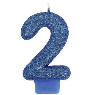 ナンバーキャンドル#2 ブルーラメ<br>【Blue Lamé】<br>