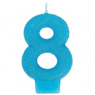 ナンバーキャンドル#8 ラメ<br>【Lamé】<br>