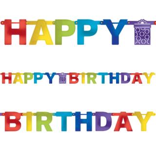 バースデーレターバナーM ブライト<br>【Bright Birthday】
