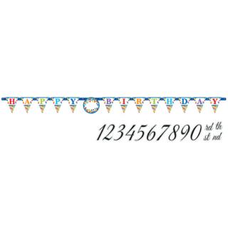 バースデーレターバナーL ブライト<br>【Bright Birthday】
