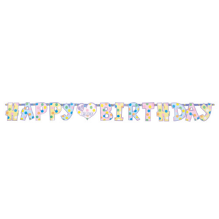 ミニレターバナー ハーフバースデー<br>【Half Birthday】