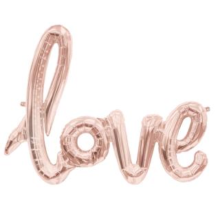 レターバルーン ラブ ローズゴールド<br>【Love Rose Gold】