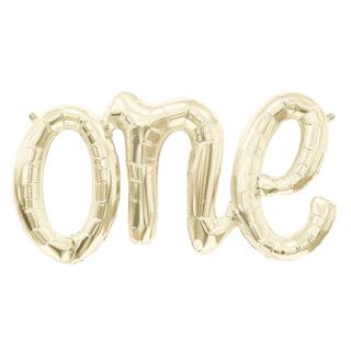 レターバルーン ワン ホワイトゴールド<br>【One White Gold】