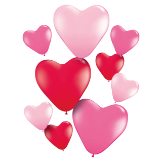バルーン ハートカラフルセット(9枚入り)<br>【Heart Colorful set】