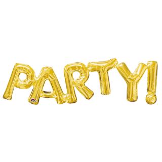 レターバルーン パーティー ゴールド<br>【Party Gold】