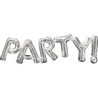 レターバルーン パーティー シルバー<br>【Party Silver】