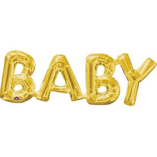 レターバルーン ベビー ゴールド<br>【Baby Gold】