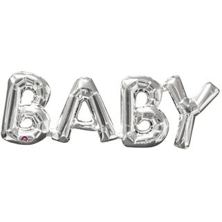 レターバルーン ベビー シルバー<br>【Baby Silver】