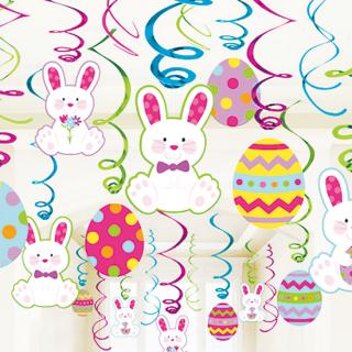 スワールデコレーション ラビット&エッグ<br>【Rabbit&Egg】