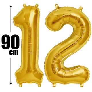 数字バルーン ナンバーバルーン【ゴールド】約90cm BIG風船