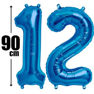 数字バルーン ナンバーバルーン【ブルー】約90cm BIG風船