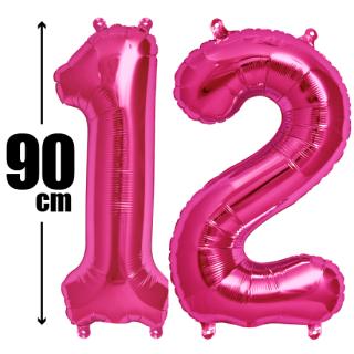 数字バルーン ナンバーバルーン【ピンク】約90cm BIG風船