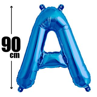 文字バルーン アルファベットバルーン 文字の風船【ブルー】約90cm BIG風船