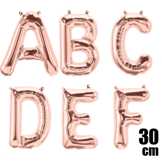 文字バルーン アルファベットバルーン 文字の風船【ローズピンク】約30cm 風船