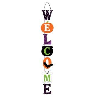 ロープハンガーハロウィンウェルカムデラックスサイン  レターバナー  ガーランド WELCOME   <br>【HALLOWEEN】
