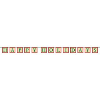 【クリスマス】ハッピーホリデー クリスマスパーティー ガーランド レターバナー