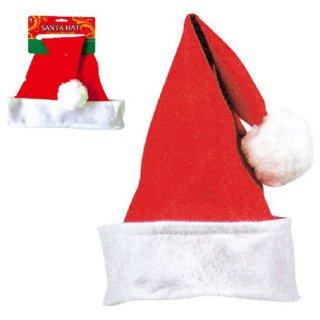 クリスマスパーティー サンタ帽子 サンタクロース帽子 サンタハット フェルトサンタフォルデッドカフ【Christmas】