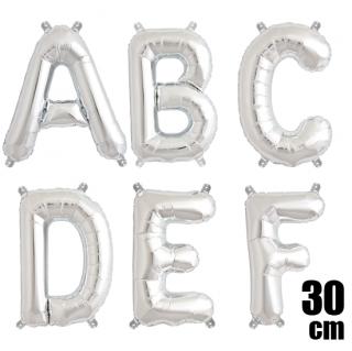 文字バルーン アルファベットバルーン 文字の風船【シルバー】約30cm 風船