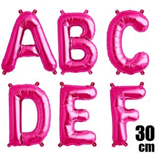 文字バルーン アルファベットバルーン 文字の風船【ピンク】約30cm 風船