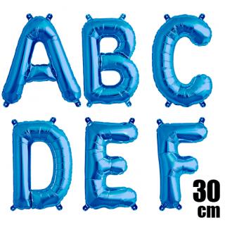 文字バルーン アルファベットバルーン 文字の風船【ブルー】約30cm 風船