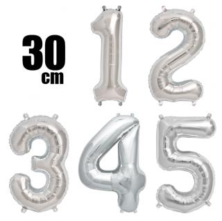 数字バルーン ナンバーバルーン【シルバー】約30cm 風船