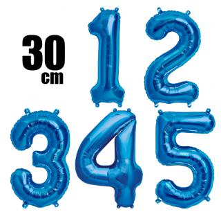 数字バルーン ナンバーバルーン【ブルー】約30cm 風船