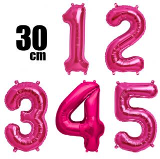 数字バルーン ナンバーバルーン【ピンク】約30cm 風船