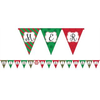 【クリスマス】ペーパーバナー クリスマスペナント ガーランド レターバナー 【Christmas】