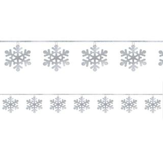 【クリスマス】ガーランド スパンコール リング スノーフレーク 雪の結晶 【Christmas】